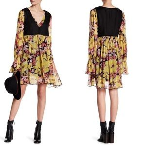 NWT Free People Fall Floral Vested Dress